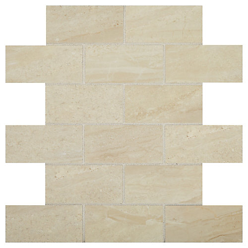 Bellview 12-inch x 12-inch x 8 mm Ceramic Mosaic Tile in Sea Cliff