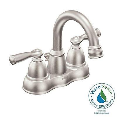 Moen Banbury Centerset (4-inch) 2-Handle High Arc Bathroom Faucet in ...