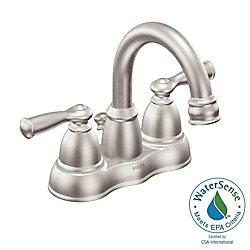 MOEN Banbury 4-Inch Centerset 2-Handle Bathroom Faucet in Spot Resist Brushed Nickel