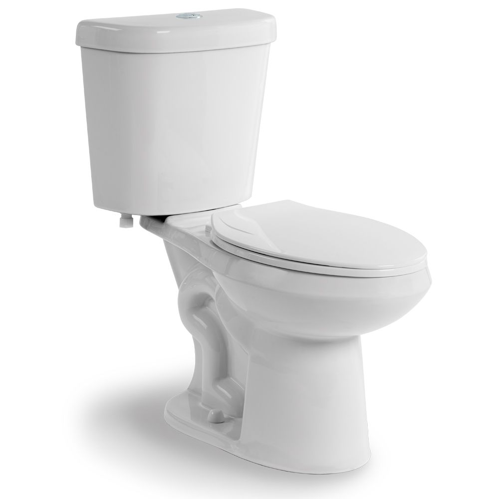 Dual Flush Two Piece All-In-One 1.60 Gal. Elongated Toilet in White