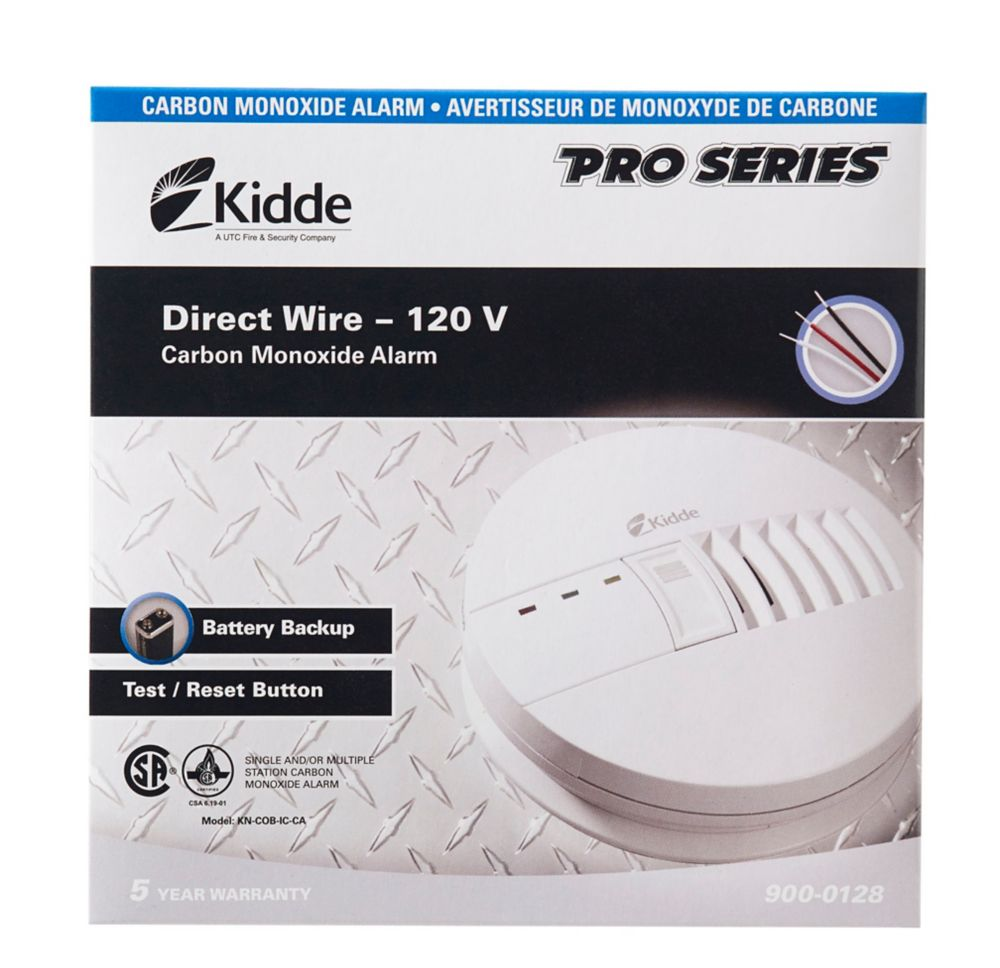 Kidde Basic Carbon Monoxide Alarm - hardwire with BBU