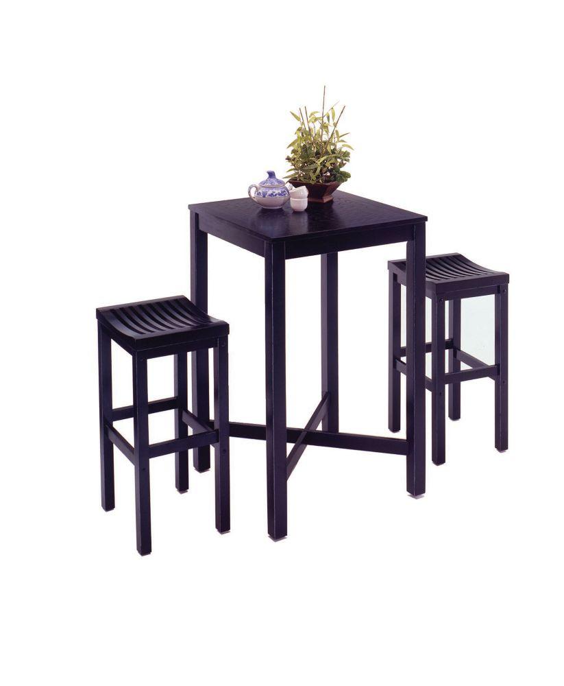 Black 3pc Pub Table set
