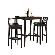 Cherry 3-Piece Pub Table set