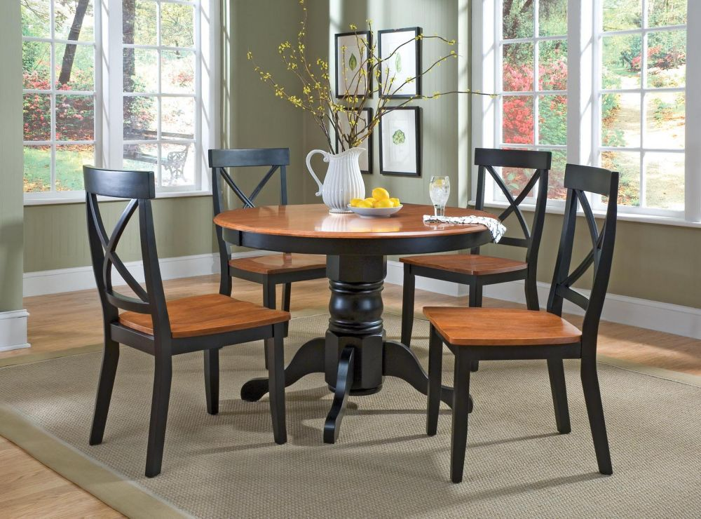 Black &Cottage Oak 5pc Dining Set 5168-318 Canada Discount