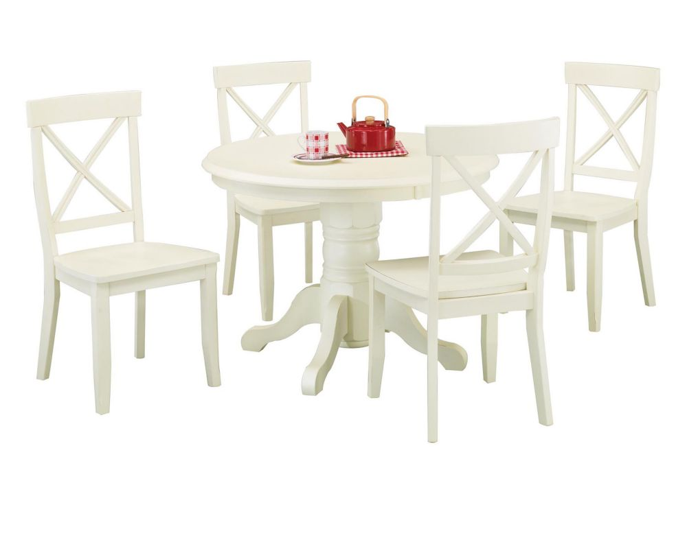 White Oak 5pc Dining Set