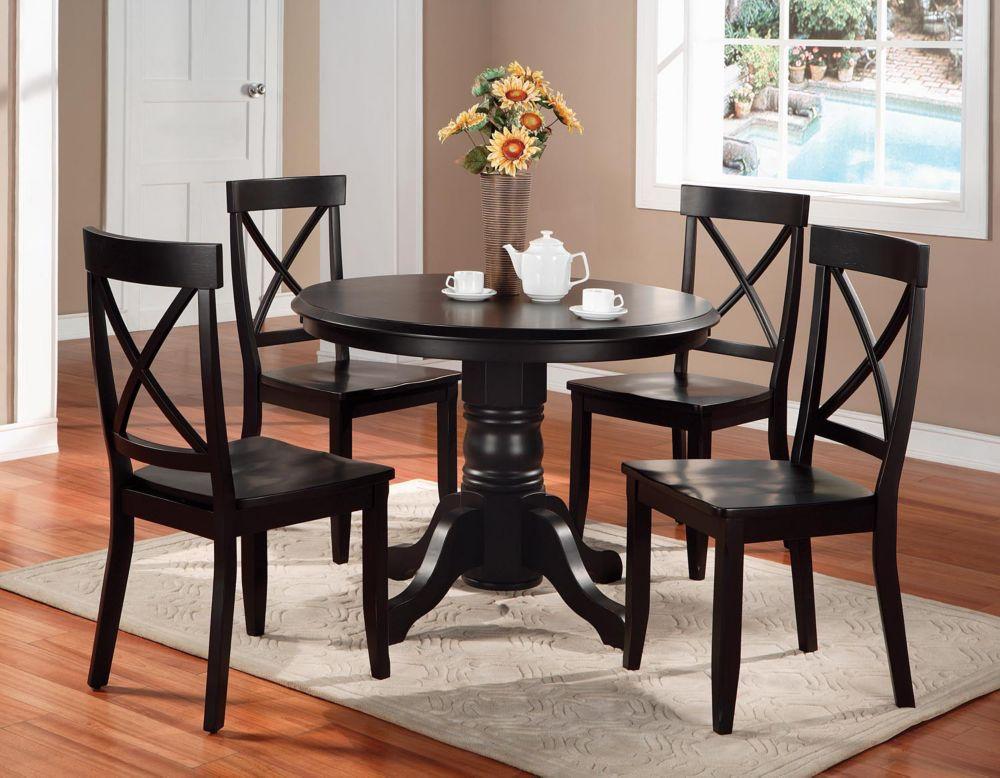 Black Oak 5pc Dining Set