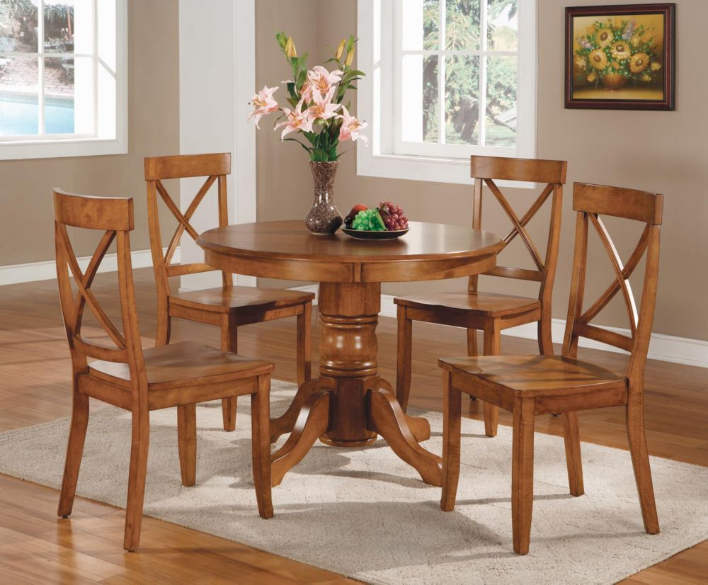 Cottage Oak 5pc Dining Set