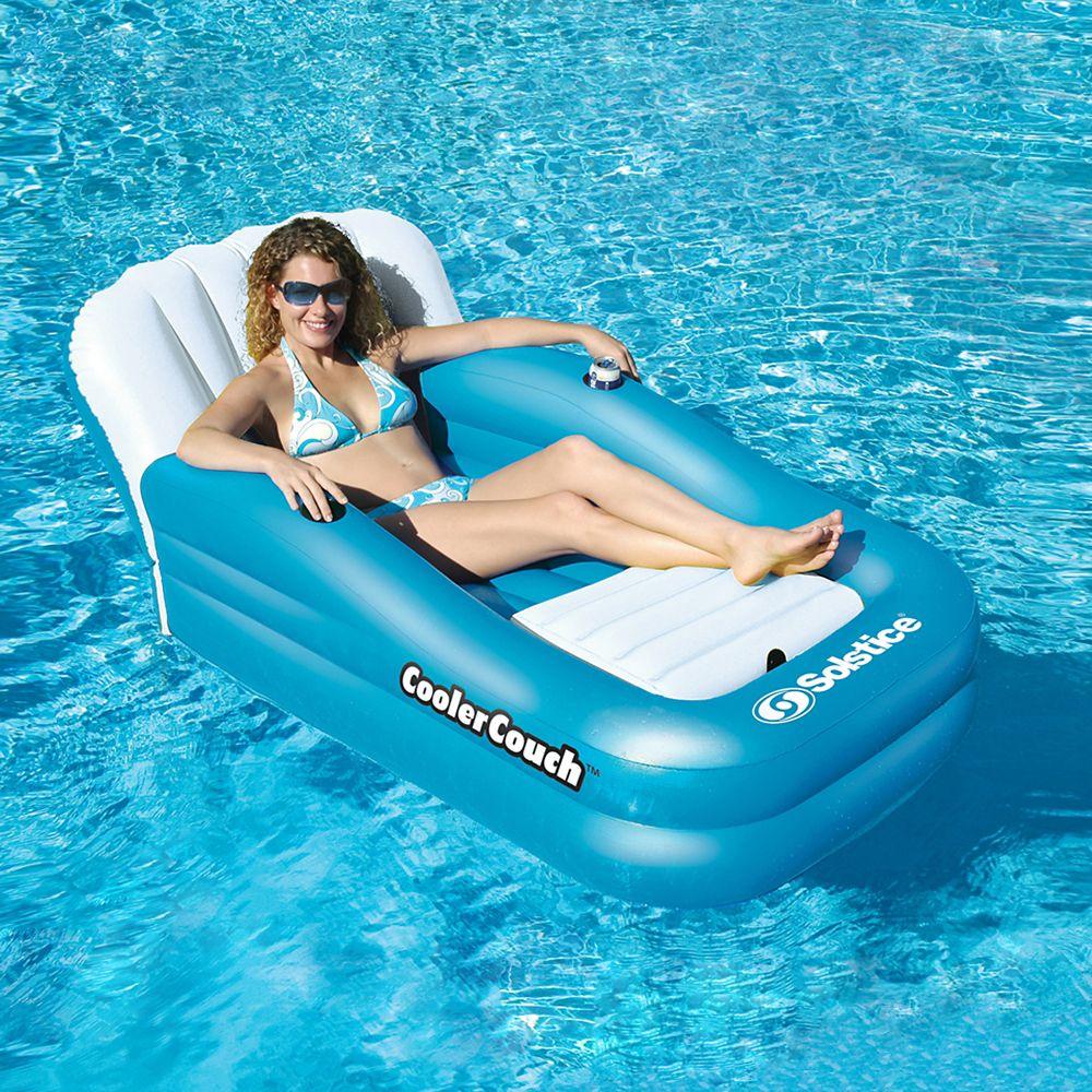 Divan long surdimensionné CoolerCouch flottant pour piscine