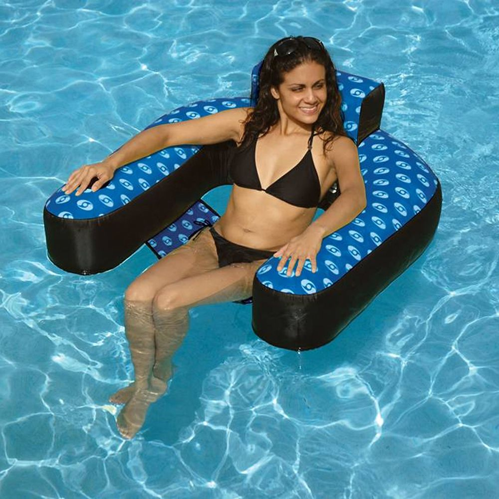 swimline chaise de suspension recouverte gonflable de piscine home depot canada. Black Bedroom Furniture Sets. Home Design Ideas