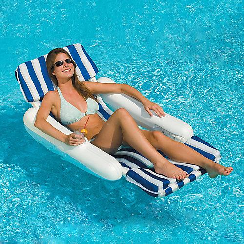 SunChaser Padded Floating Pool Lounger