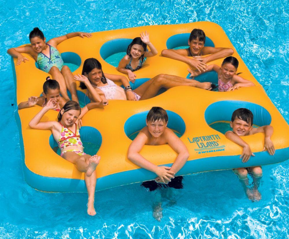 Jouet gonflable de piscine Labyrinth Island