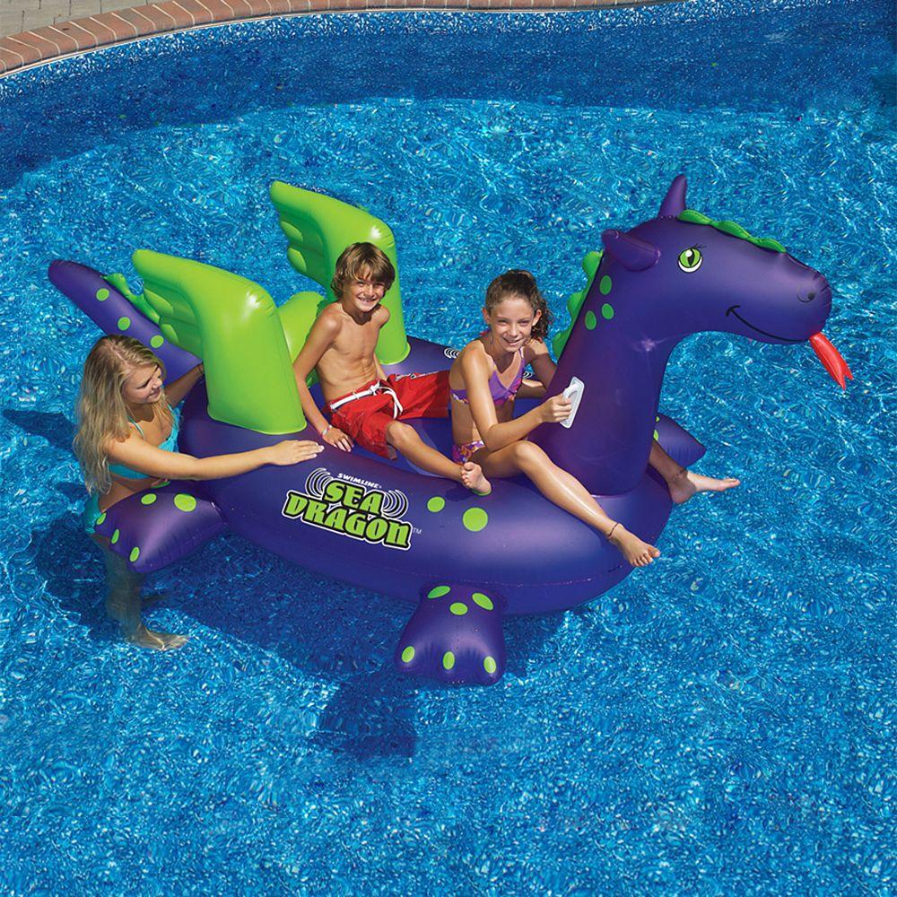 Jouet à chevaucher gonflable de piscine Giant Sea Dragon