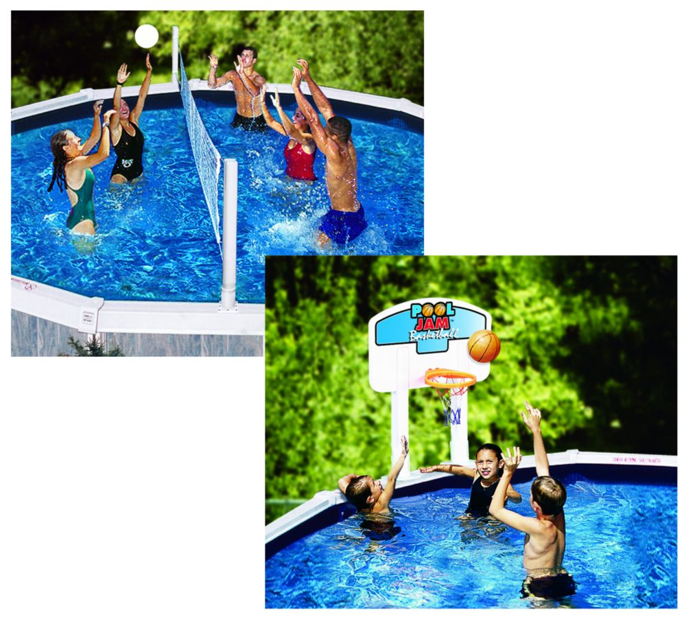 Pool Gear Plus Pool Jam Volleyball/Basketball Combo Above Ground Pool Toy