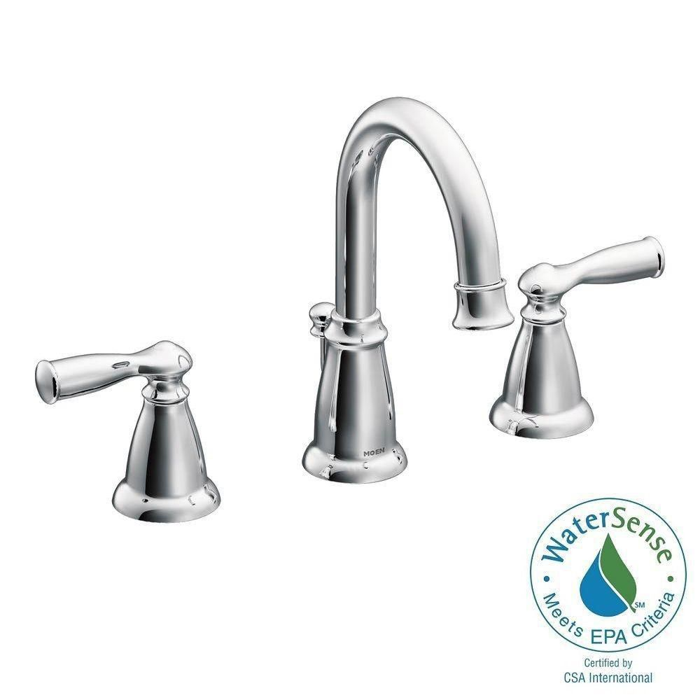 Moen Banbury 2 Handle Widespread Bathroom Faucet Chrome Finish The Home D