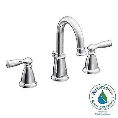 Moen Banbury Widespread (8-inch) 2-Handle High Arc Bathroom Faucet ...