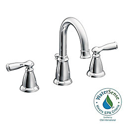 MOEN Banbury 8-Inch Widespread 2-Handle High Arc Bathroom Faucet With Lever Handles In Chrome