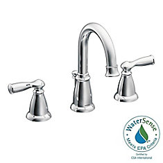Banbury 8-Inch Widespread 2-Handle High Arc Bathroom Faucet With Lever Handles In Chrome