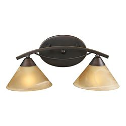 Titan Lighting Elysburg 2-Light Aged Bronze Bath Light