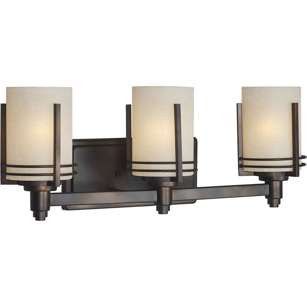 Burton 3-Light Wall Antique Bronze Bath Vanity