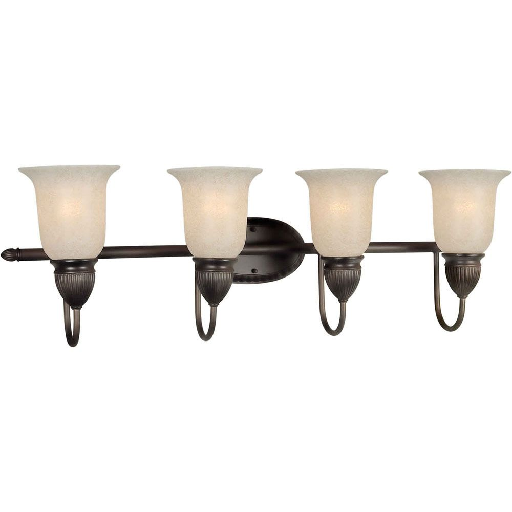 Burton 4 Light Wall Antique Bronze  Incandescent Bath Vanity