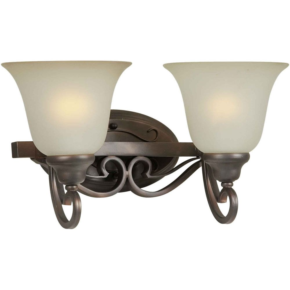 Burton 2-Light Wall Antique Bronze Bath Vanity