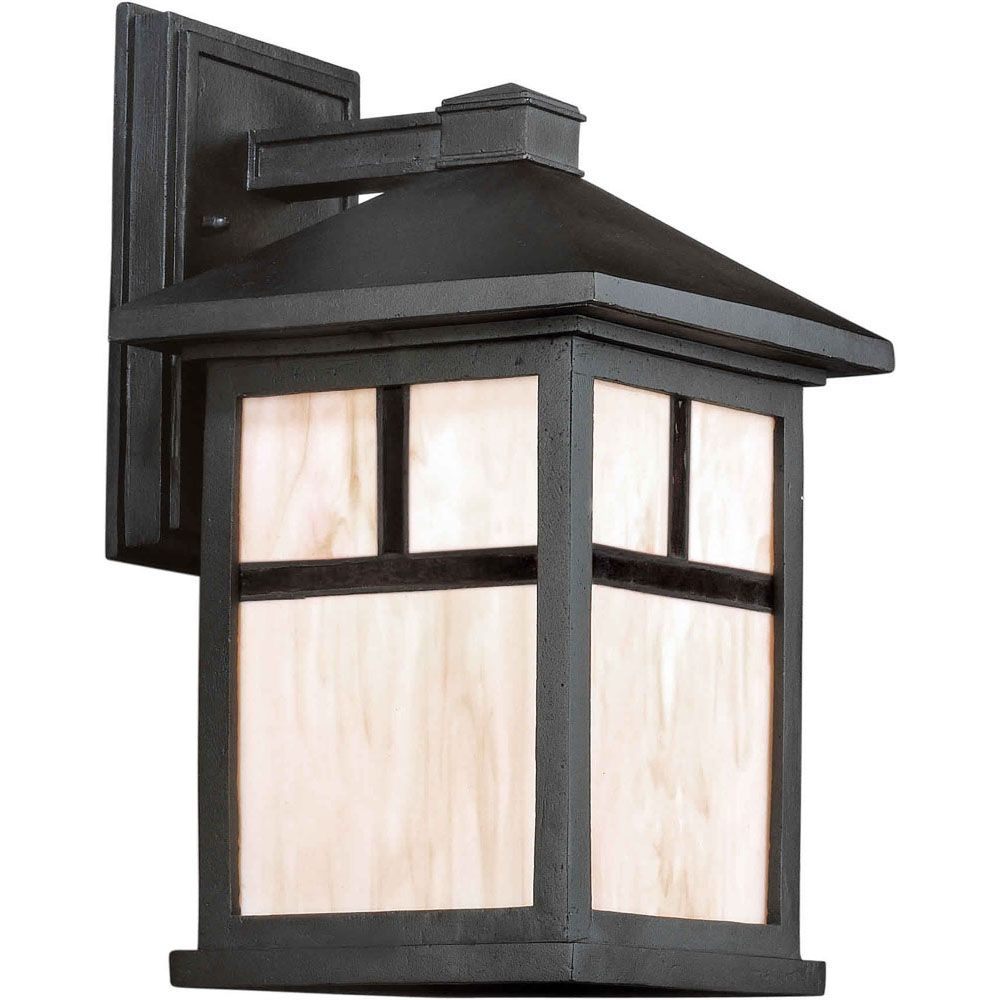 Burton 1 Light Black  Outdoor Incandescent Wall Light