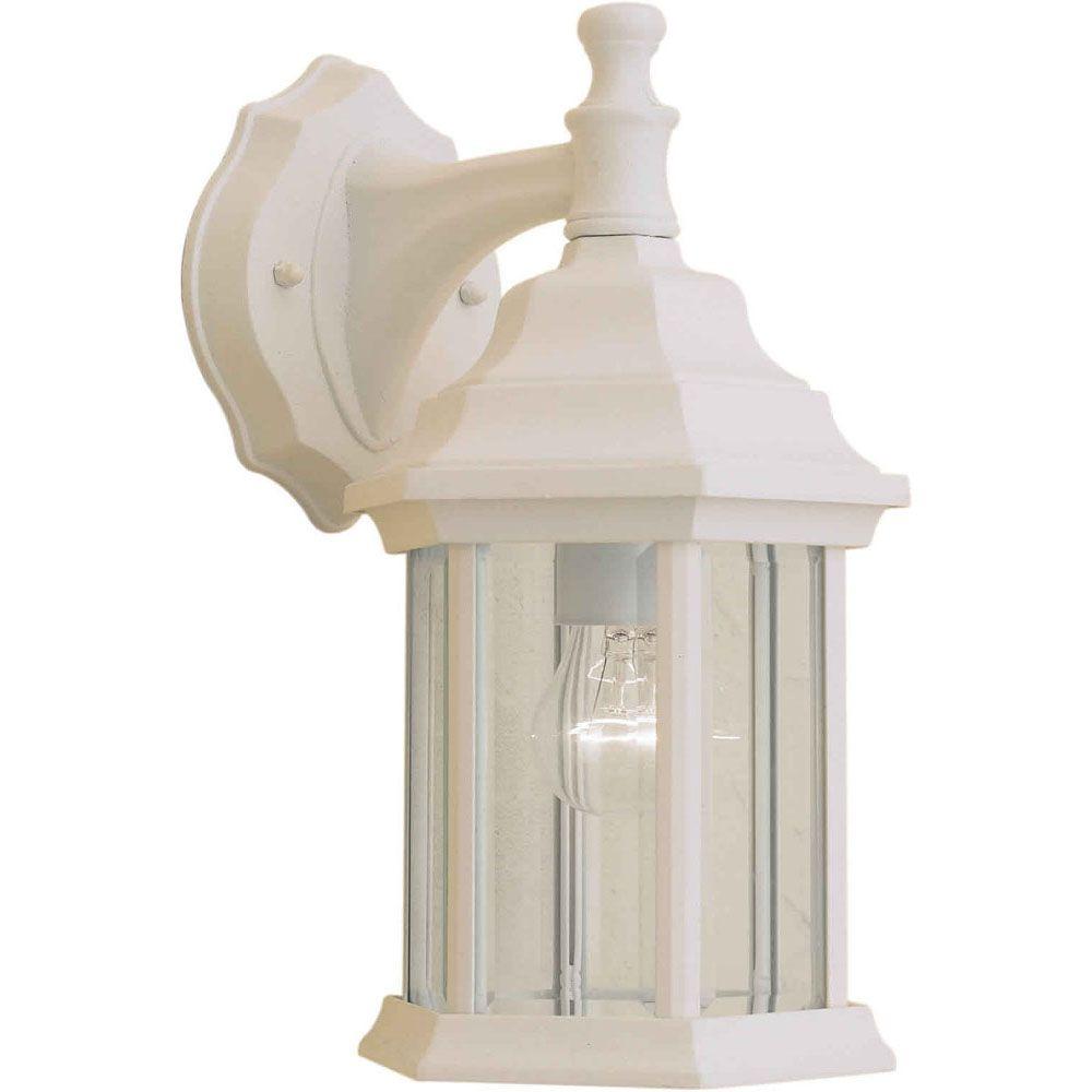 Filament Design Burton 1-Light Matte White Outdoor Wall-Light