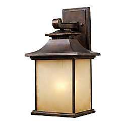 Titan Lighting San Gabriel 1-Light Large Hazelnut Bronze Outdoor Wall Mount Sconce