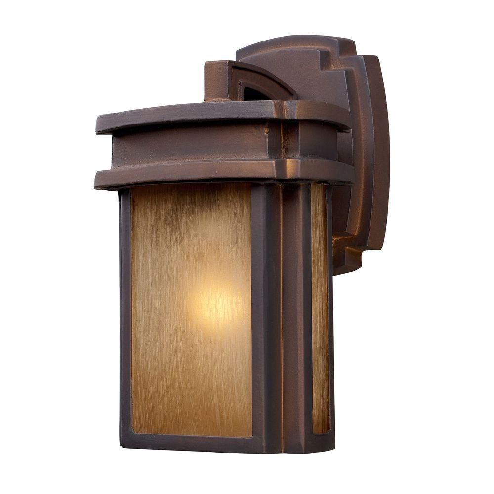 1-Light Outdoor Hazelnut Bronze Sconce