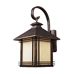 Titan Lighting Blackwell 1-Light 22 in. Warm Hazelnut Bronze Outdoor Wall Mount Sconce