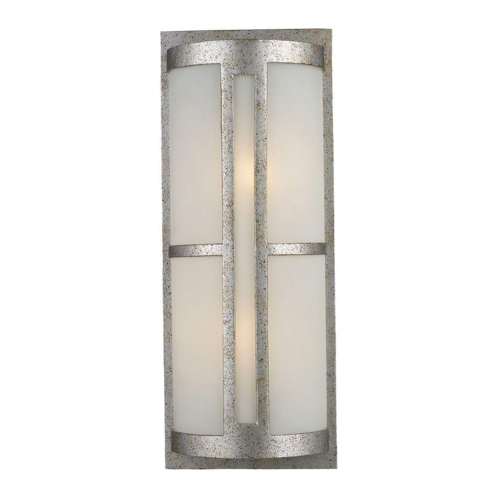 1-Light Outdoor Sunset Silver Wall Sconce
