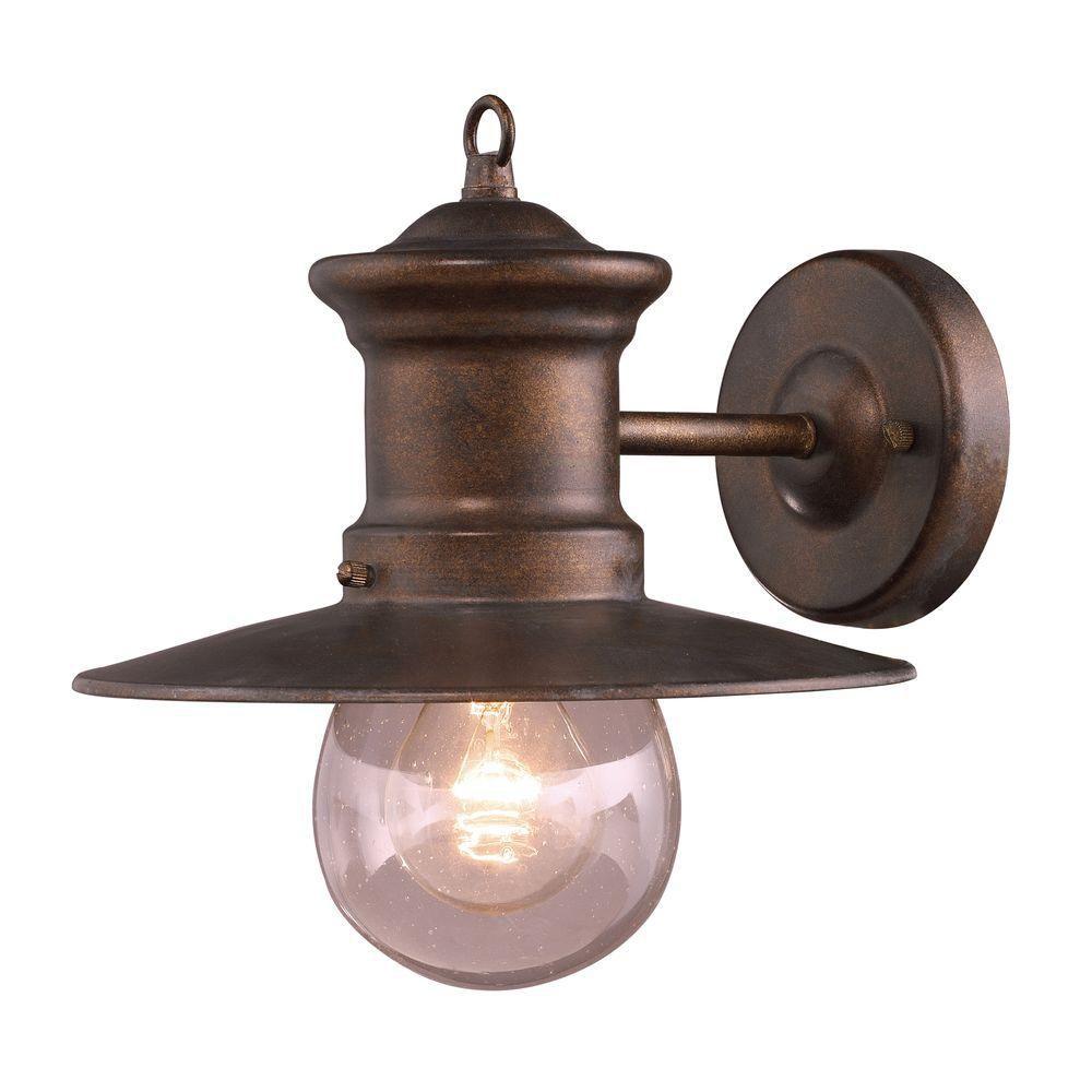 1-Light Outdoor Hazelnut Bronze Sconce