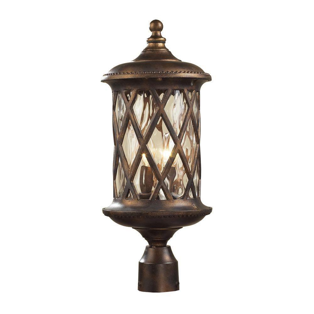2-Light Outdoor Hazelnut Bronze Post Light