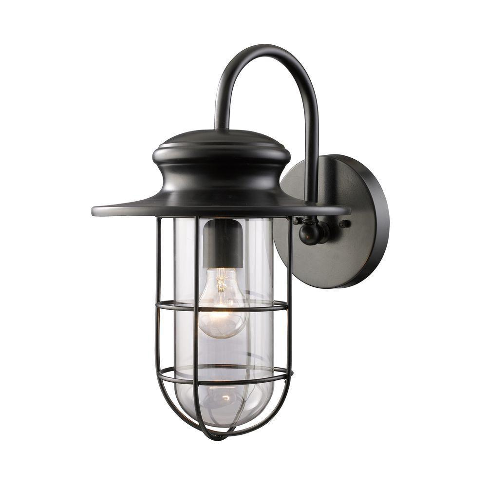 Titan Lighting 1-Light Outdoor Matte Black Wall Sconce
