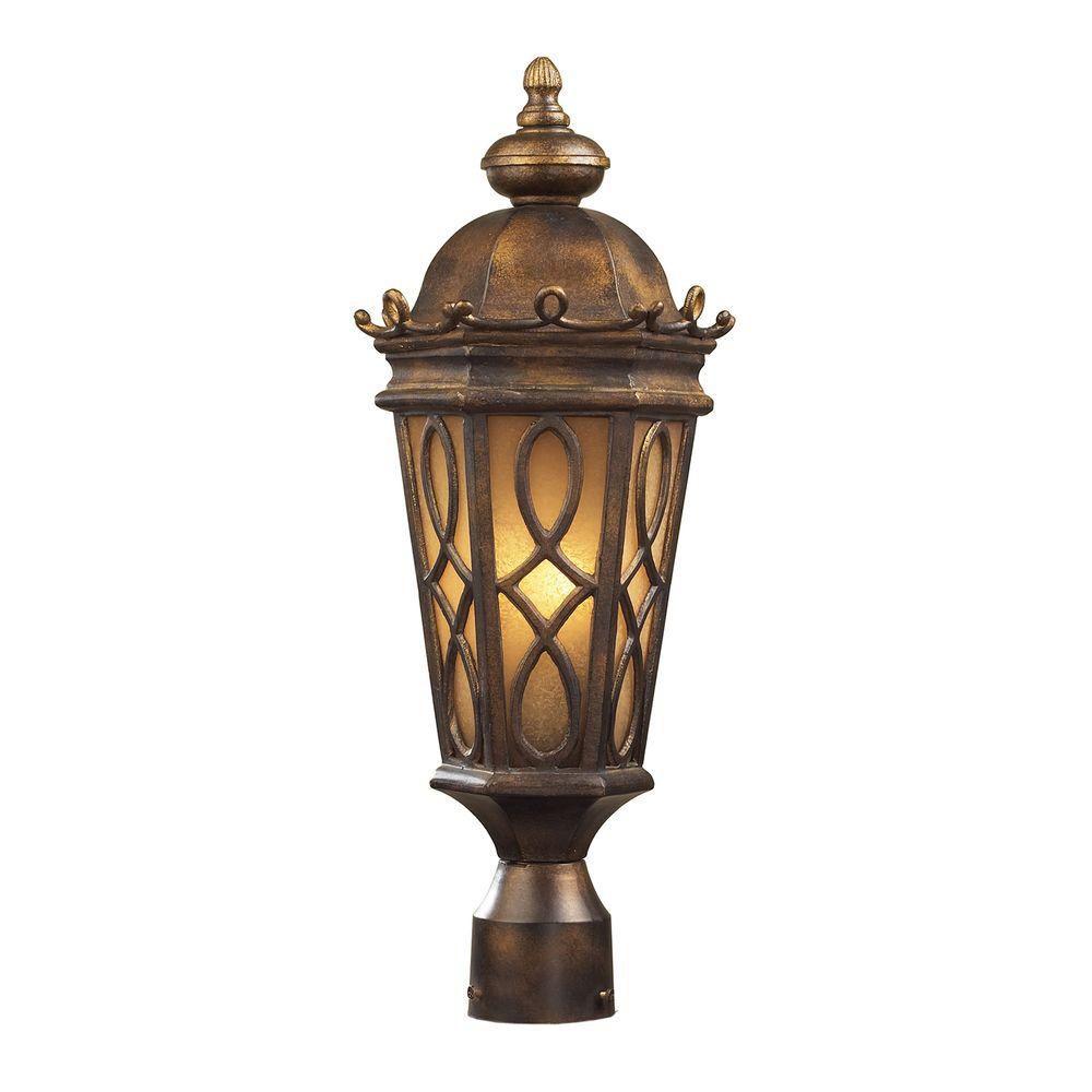 Lampadaire extérieur à 2 ampoules au fini bronze noisette
