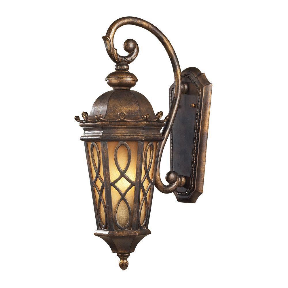 2-Light Outdoor Hazelnut Bronze Sconce