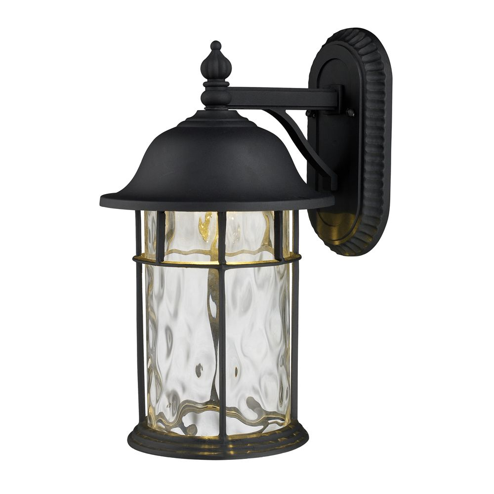 1-Light Outdoor Matte Black LED Wall Sconce