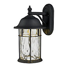 hampton bay exterior wall lantern with built in electrical outlet gfci. 1-light outdoor matte black led wall sconce hampton bay exterior lantern with built in electrical outlet gfci