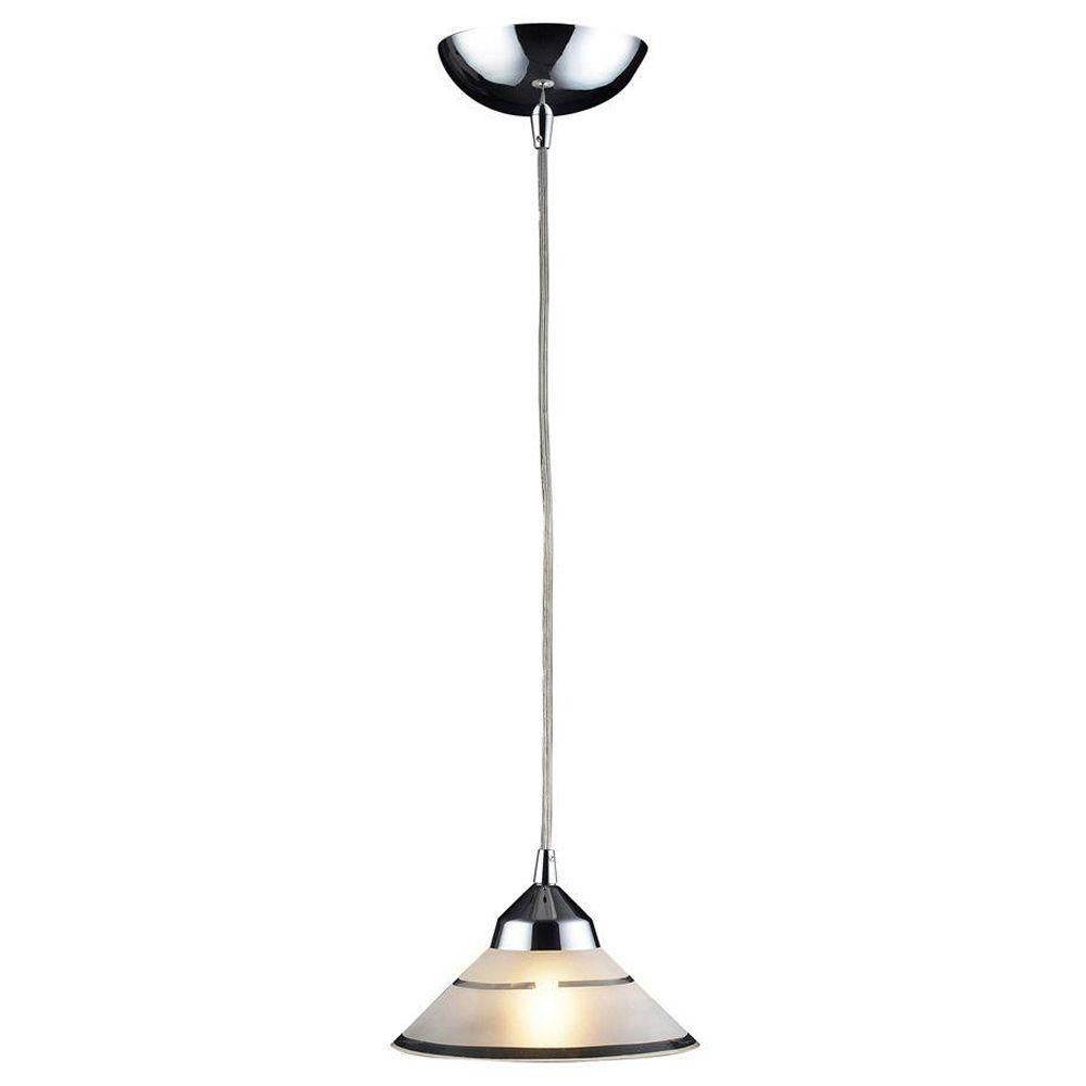 1-Light Ceiling Mount Polished Chrome Pendant