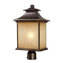 Titan Lighting 1-Light Outdoor Hazelnut Bronze Post Light