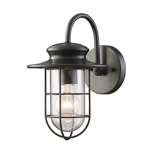 Portside Outdoor Matte Black Wall Sconce