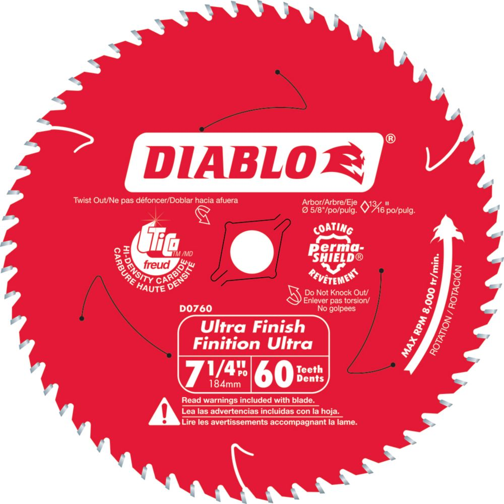 Circular saw blades the home depot canada diablo fine finishing blade 7 14 inch greentooth Gallery