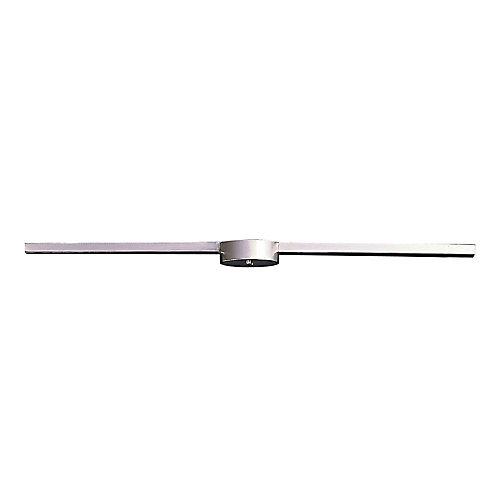3-Light Ceiling Mount Satin Nickel Linear Bar