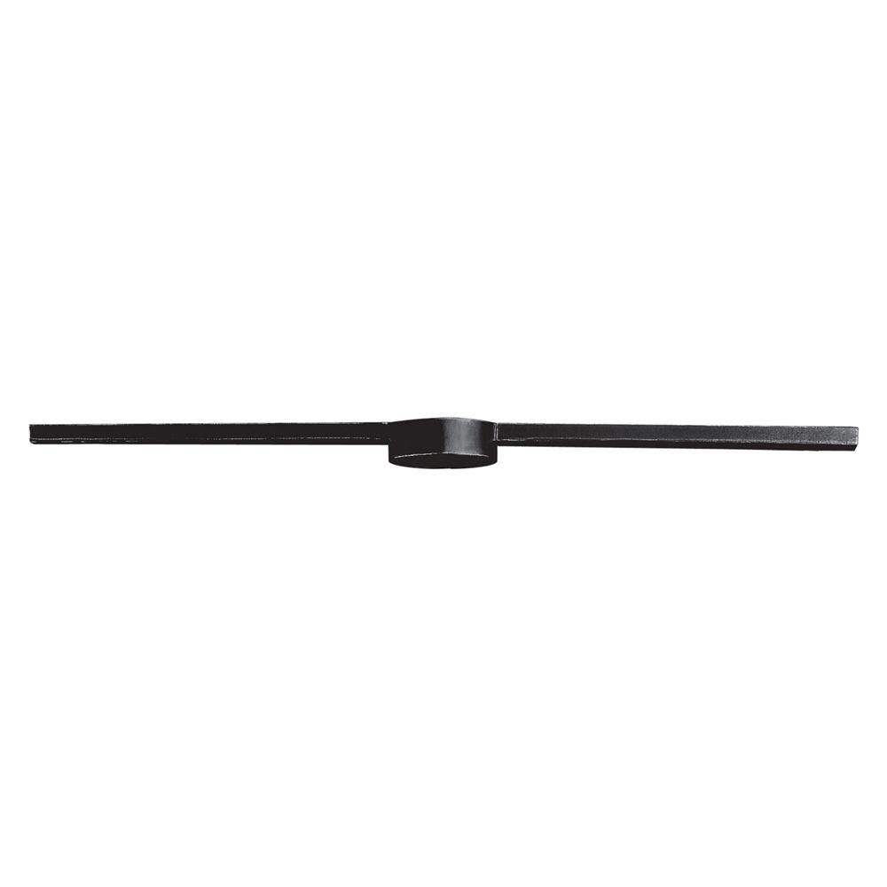 3-Light Ceiling Mount Dark Rust Linear Bar
