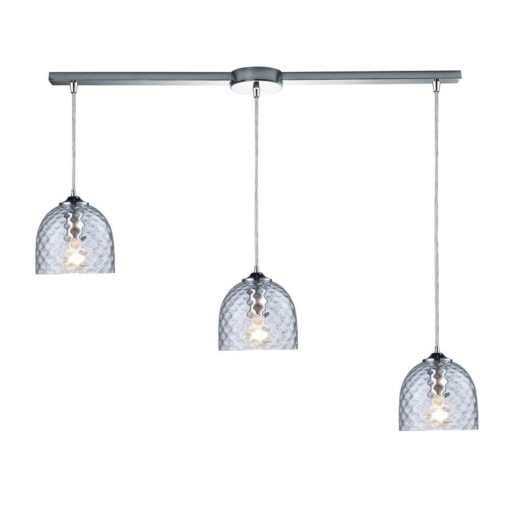 3-Light Ceiling Satin Nickel Pendant