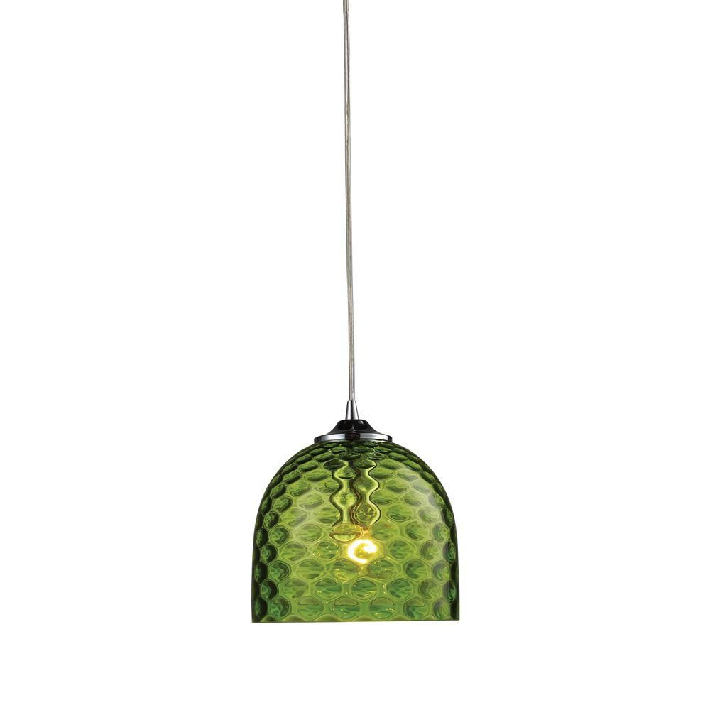 1-Light Ceiling Satin Nickel Pendant