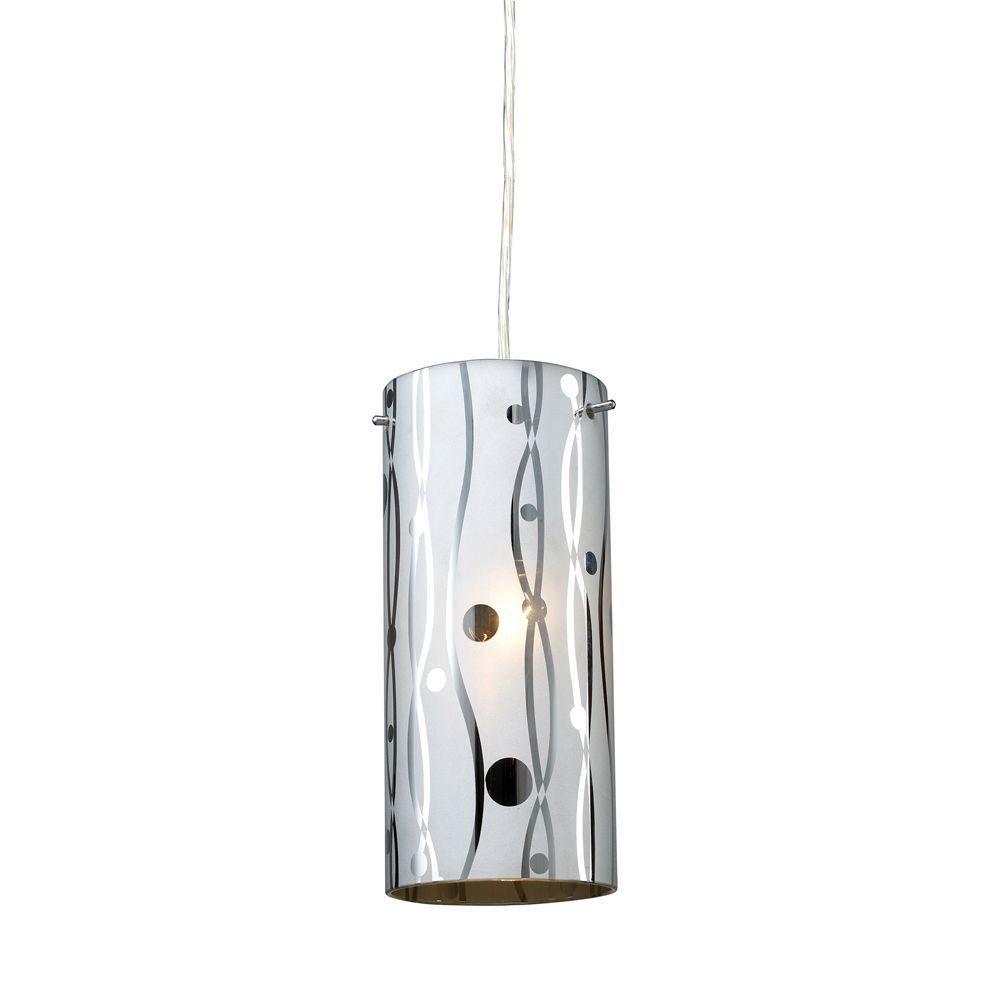 1-Light Ceiling Polished Chrome Pendant