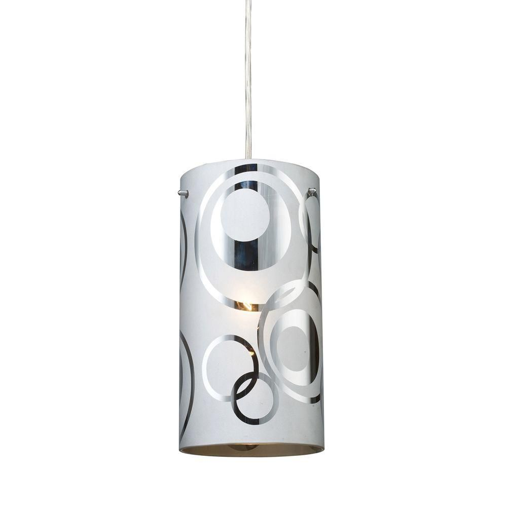 1-Light Ceiling Polished Chrome Pendant