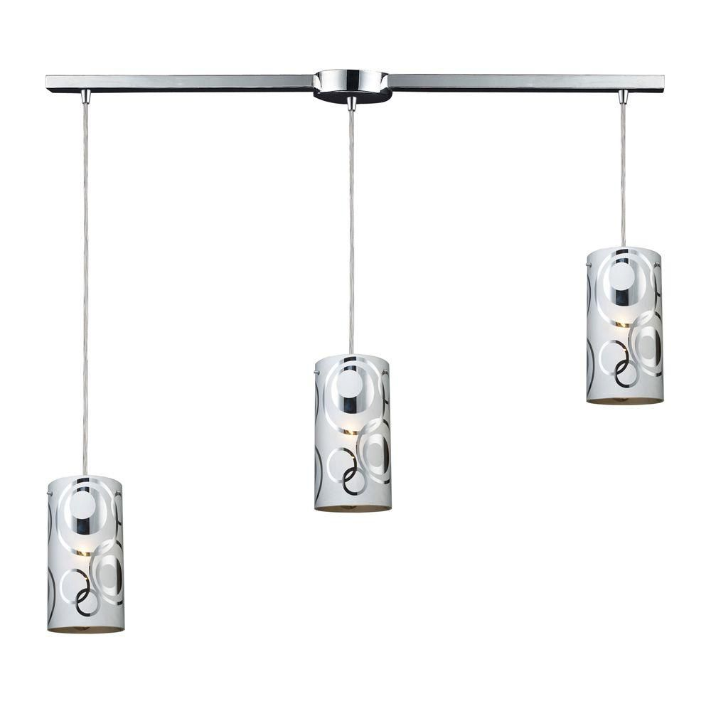 3-Light Ceiling Polished Chrome Pendant