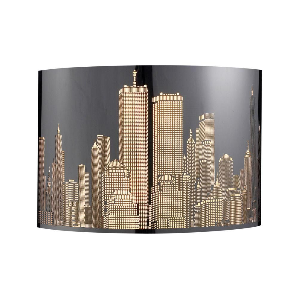 1-Light Polished Stainless Steel Sconce